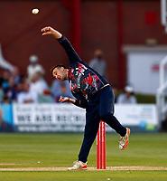 Elliot Hooper bowls for Kent during Kent Spitfires vs Sussex Sharks, Vitality Blast T20 Cricket at The Spitfire Ground on 18th July 2021