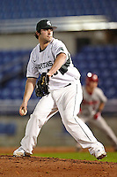 Michigan State Spartans pitcher Mike Theordore #40 during a game against the St. John's Red Storm at the Big Ten/Big East Challenge at Florida Auto Exchange Stadium on February 17, 2012 in Dunedin, Florida.  (Mike Janes/Four Seam Images)