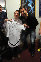 Pictured: Angel Rangel (R). Thursday 15 December 2011<br />