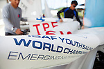ISAF Emerging Nations Program, Langkawi, Malaysia.<br />Chi-Chian Wu from Taiwan, TPEWC1   <br />& Chih-Yuan Chu  from Taiwan, TPECC2.<br />420, Sail Number: TPE 86168