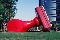 "Cleveland: ""Free Stamp"" by Claes Oldenburg and Coosje Van Bruggin, 1982. Lakeside at #. 9th. Photo '01."