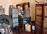 Files and other stored items at Kakira Police Station.