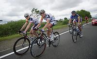 Frederik Willems (BEL) & Lars Bak (DNK) relaxed<br /> <br /> 2013 Ster ZLM Tour <br /> stage 4: Verviers - La Gileppe (186km)
