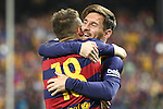 FC Barcelona's Jordi Alba and Leo Messi during Spanish Kings Cup Final match. May 22,2016. (ALTERPHOTOS/Rodrigo Jimenez)