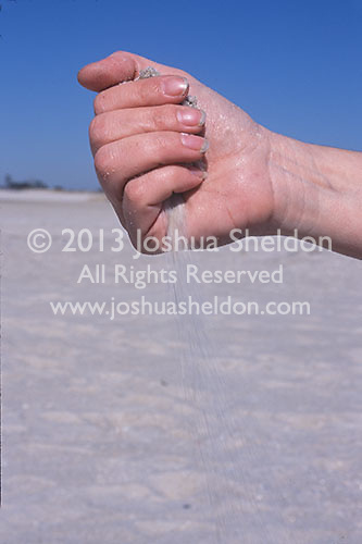Sand slipping though a hand<br />