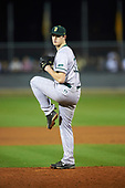 Siena Saints relief pitcher Danny Hobbs (33) delivers a pitch during a game against the UCF Knights on February 17, 2017 at UCF Baseball Complex in Orlando, Florida.  UCF defeated Siena 17-6.  (Mike Janes/Four Seam Images)
