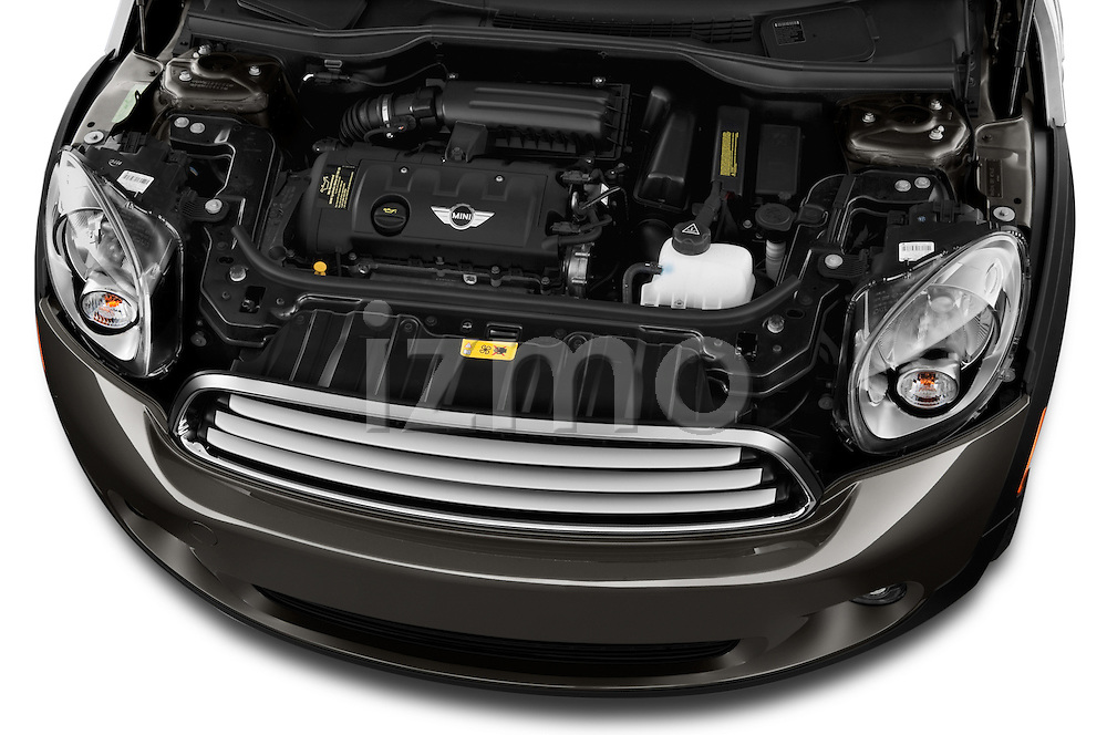 High angle engine detail of a 2011 - 2014 Mini Cooper Countryman SUV.