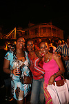 """Scenes from the weekly Friday night """"jump up"""" or party at Gros Islet, St. Lucia"""