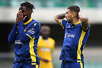 Mattia Zaccagni and Adrien Tameze of Hellas Verona <br /> during the Serie A football match between Hellas Verona and Udinese Calcio at Marcantonio Bentegodi Stadium in Verona (Italy), September 27th, 2020. Photo Image Sport / Insidefoto