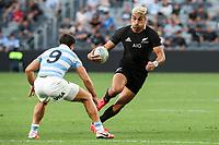14th November 2020, Sydney, Australia;  Rieko Ioane in possession. Tri Nations rugby union test match,  New Zealand All Blacks versus Argentina Pumas. Bankwest Stadium, Sydney, Australia.