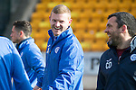 St Johnstone Training….17.02.17<br />Brain Easton jokes with Callum Davidson during training this morning at McDiarmid Park ahead of tomorrow's trip to Dingwall<br />Picture by Graeme Hart.<br />Copyright Perthshire Picture Agency<br />Tel: 01738 623350  Mobile: 07990 594431