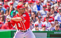 14 April 2013: Washington Nationals second baseman Danny Espinosa in action against the Atlanta Braves at Nationals Park in Washington, DC. The Braves shut out the Nationals 9-0 to sweep their 3-game series. Mandatory Credit: Ed Wolfstein Photo *** RAW (NEF) Image File Available ***