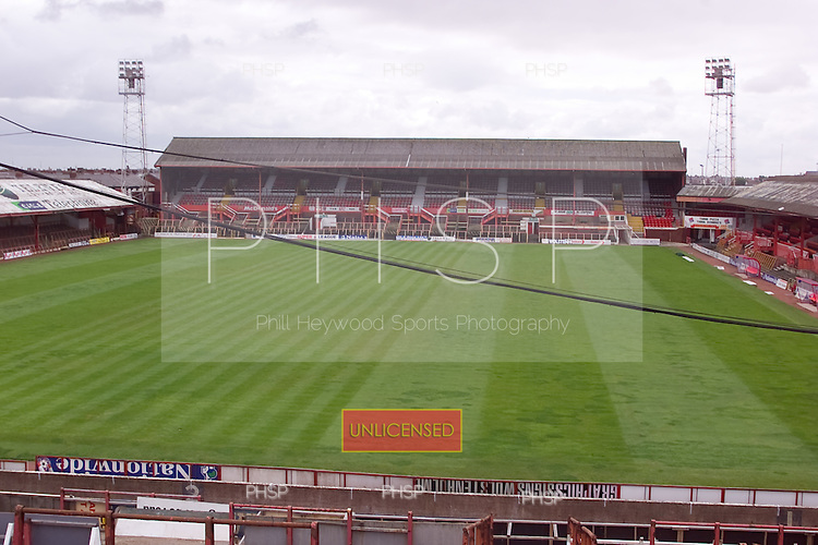 23/06/2000 Blackpool FC Bloomfield Road Ground..South stand from the home section of the Kop.....© Phill Heywood.