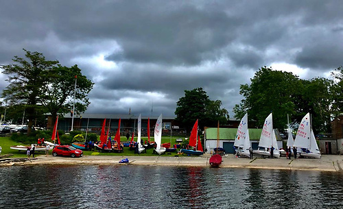 Mirror and 420 dinghies at Lough Ree Yacht Club
