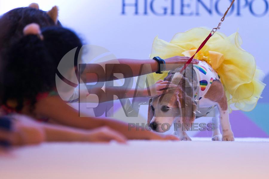 SÃO PAULO - SP. 24.02.2017 - CÃOCURSO-SP - Cãocurso promovido pelo Instituto Luísa Mell e apresentado pela  blogueira Mica Rocha, na tarde deste sábado, 24, no Shopping Pátio Higienópolis, no centro de São Paulo. (Foto: Ciça Neder / Brazil Photo Press)