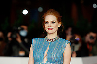 The American actress Jessica Chastain poses for photographers during the red carpet of the film The Eyes of Tammy Faye at the 16th edition of the Rome Film Fest . Rome (Italy), October 14th 2021<br /> Photo Samantha Zucchi Insidefoto