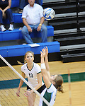 Tulane Women's Volleyball action against the University of Southern Mississippi on October 7, 2009 at Fogelman Arena.  Southern Mississippi won the match 3-2.