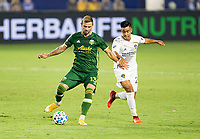 CARSON, CA - OCTOBER 07: Dario Zuparic #13 of the Portland Timbers moves with the ball during a game between Portland Timbers and Los Angeles Galaxy at Dignity Heath Sports Park on October 07, 2020 in Carson, California.