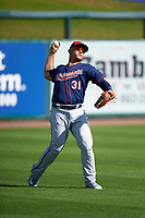 Minnesota Twins outfielder Oswaldo Arcia (31) during a Spring Training practice on March 1, 2016 at Hammond Stadium in Fort Myers, Florida.  (Mike Janes/Four Seam Images)