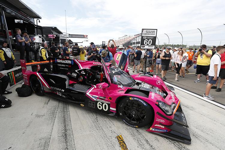 #60: Meyer Shank Racing w/Curb-Agajanian Acura DPi, DPi: Olivier Pla, Dane Cameron, grid, fans