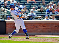 25 July 2012: New York Mets infielder Justin Turner pinch hits against the Washington Nationals at Citi Field in Flushing, NY. The Nationals defeated the Mets 5-2 to sweep their 3-game series. Mandatory Credit: Ed Wolfstein Photo