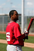 Alberto Rosario - Los Angeles Angels 2009 spring training.Photo by:  Bill Mitchell/Four Seam Images