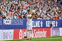 3rd October 2021;  RCDE Stadium, Barcelona, Spain: La Liga Football, Espanyol versus Real Madrid; <br /> Lucas Vazquez of Real Madrid during the Liga match between RCD Espanyol and Real Madrid at RCDE Stadium in Cornella, Spain.