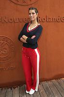 Laurie Thielmann seen at 'Le Village de Roland Garros' during Roland Garros tennis open 2016 on may 29 2016.