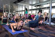 A yoga cruise sponsored by Spirit Cruises.