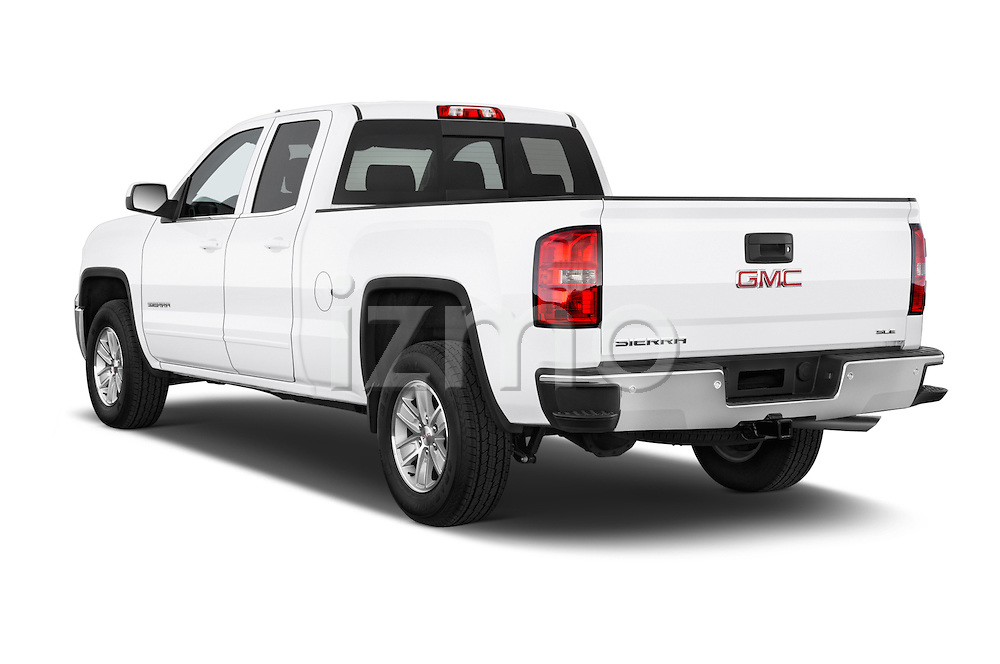 Car pictures of rear three quarter view of a 2015 GMC Sierra 1500 SLE 4 Door Pick-up Angular Rear