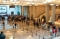 People in line in US Capitol visitor center