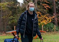 ZEIST, NETHERLANDS - NOVEMBER 20: Sam Mewis #3 of the USWNT arrives at training camp on November 20, 2020 in Zeist, Netherlands.