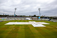 General view of the ground and covers  Warwickshire CCC vs Essex CCC, Specsavers County Championship Division 1 Cricket at Edgbaston Stadium on 11th September 2019