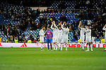 Real Madrid´s players and Levante UD´s players thanks the supporters after 2014-15 La Liga match between Real Madrid and Levante UD at Santiago Bernabeu stadium in Madrid, Spain. March 15, 2015. (ALTERPHOTOS/Luis Fernandez)