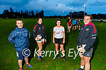 Members of the Tralee Rugby Club are hoping to recruit more ladies to the rugby club. L to r: Tigger O'Dowd, Emily Regan (Camp), Anna Cotter (Abbeyfeale) and Katie Houlihan (Abbeyfeale).