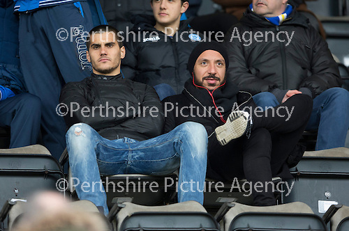 St Johnstone v Motherwell…20.02.16   SPFL   McDiarmid Park, Perth<br />Bulgarian Plamen Krachuno and former Real Madrid player Julien Faubert who are on trial with St Johnstone<br />Picture by Graeme Hart.<br />Copyright Perthshire Picture Agency<br />Tel: 01738 623350  Mobile: 07990 594431