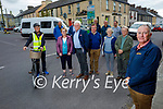 Residents of Tarbert concerned about the dangerous junction in Tarbert without any road crossings on Sunday. Front right: Councillor Michael Foley. Back row l to r: Micheal Lanigan, Patsy O'Connell, Paddy Creedon, Kitty Kelly, Michael Eric Holly, Seamus Enright, Tom O'Donnell, Ken Murphy, Dr Declan Downey, Joan and Patrick Lynch.