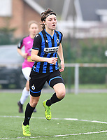 Debbie Decoene (21 Brugge) pictured during a female soccer game between Club Brugge Dames YLA and Eendracht Aalst Ladies on the 9 th matchday of the 2020 - 2021 season of Belgian Scooore Womens Super League , saturday 12 December 2020  in Brugge , Belgium . PHOTO SPORTPIX.BE | SPP | DAVID CATRY