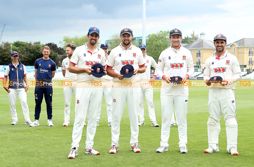 New county cap recipients - Sir Alastait Cook, Nick Browne, Tom Westley & Ryan ten Doeschate during Essex CCC vs Nottinghamshire CCC, LV Insurance County Championship Group 1 Cricket at The Cloudfm County Ground on 6th June 2021