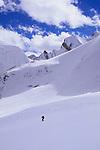 Simon Destombes skiing down the Bhrikuti Glacier, Damodar Himal, Nepal, 2008