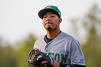 Clinton LumberKings infielder Rayder Ascanio (13) during a Midwest League game against the Wisconsin Timber Rattlers on May 9th, 2016 at Fox Cities Stadium in Appleton, Wisconsin.  Clinton defeated Wisconsin 6-3. (Brad Krause/Four Seam Images)