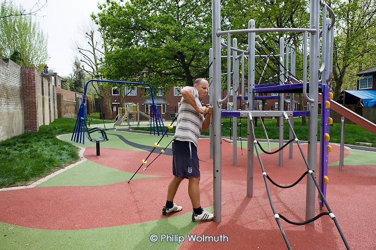 Nearly completed new playspace in Lancefield Street, Mozart Estate.