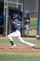 San Diego Padres shortstop Jose Rondon (12) during an Instructional League game against the Chicago White Sox on October 3, 2014 at Peoria Stadium Training Complex in Peoria, Arizona.  (Mike Janes/Four Seam Images)