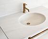 Vanity top shown in polished Dolomite.