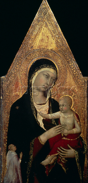 Madonna & Child with Donor ca. 1335  Lippo Memmi (act.1317-1347 Italian) Tempera on wood National Gallery of Art, Washington, D.C., USA