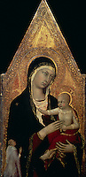 Madonna & Child with Donor ca. 1335  Lippo Memmi (act.1317-1347 Italian) Tempera on wood National Gallery of Art, Washington, D.C., USA