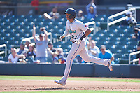 Salt River Rafters Jerar Encarnacion (27), of the Miami Marlins organization, rounds the bases after hitting a grand slam during the Arizona Fall League Championship Game against the Surprise Saguaros on October 26, 2019 at Salt River Fields at Talking Stick in Scottsdale, Arizona. The Rafters defeated the Saguaros 5-1. (Zachary Lucy/Four Seam Images)