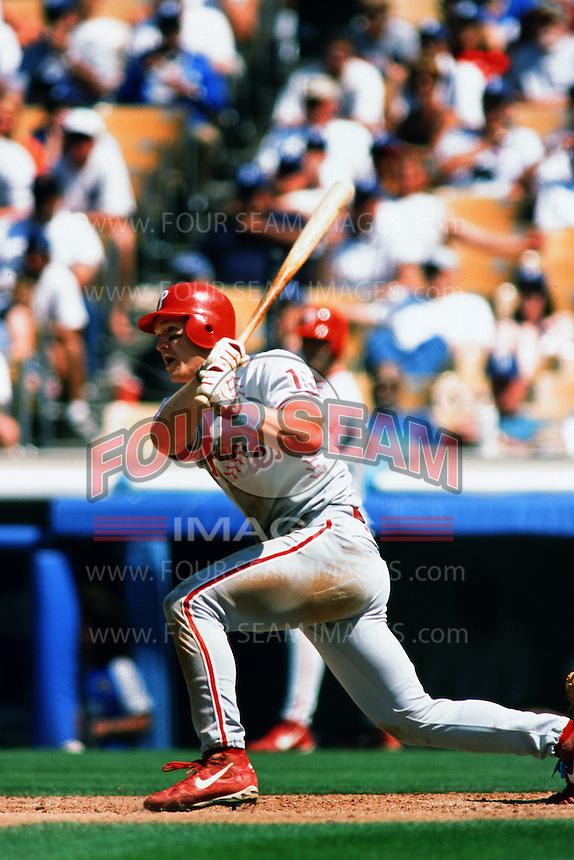 Scott Rolen of the Philadelphia Phillies during a game against the Los Angeles Dodgers at Dodger Stadium circa 1999 in Los Angeles, California. (Larry Goren/Four Seam Images)