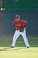 Marco Benavidez Jr (50), from Meridian, Idaho, while playing for the Cardinals during the Under Armour Baseball Factory Recruiting Classic at Gene Autry Park on December 27, 2017 in Mesa, Arizona. (Zachary Lucy/Four Seam Images)
