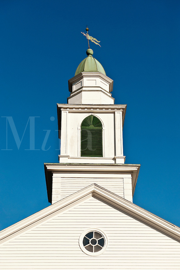 Church steeple and spire, v